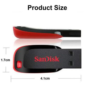 Sandisk USB flash disk 16 gb 32 gb 64 gb 128 gb CZ50 Cruzer Blade mini Cle USB Flash Disk a OTG flash Disky Disk, Na Klíč Pendrive